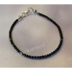 Spinel - przepiękna bransoletka w srebrze B235 - długość 17,3 cm Biżuteria i Zegarki