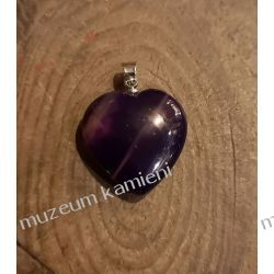 Piękny agat wisior w kształcie serca W071 Biżuteria i Zegarki