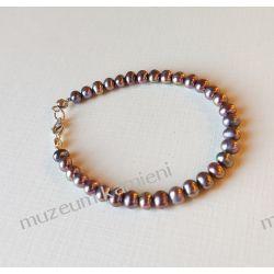 Perły - bransoletka w srebrze B69 - 19 cm