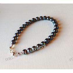Perły - bransoletka w srebrze B75 - 20,9 cm