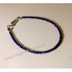 Bransoletka z lapis lazuli w srebrze B159 - 17 cm długości Ze srebra