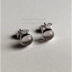 Kolczyki z kwarcu dymnego w srebrze KWK061 Ze srebra