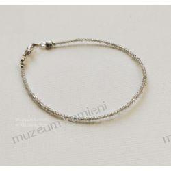 Piękna bransoletka z labradorytu B84 długość 18,6 cm Ze srebra