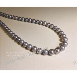 Naszyjnik z pereł w srebrze N110 długość 44 cm Ze srebra