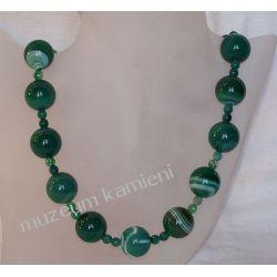 Naszyjnik z agatu w srebrze N024 Biżuteria i Zegarki