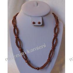 Kolia z piasku pustyni w srebrze N019 Biżuteria i Zegarki