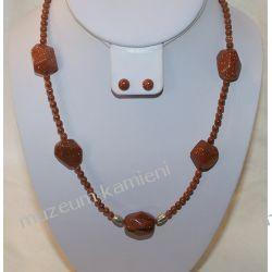 Naszyjnik z piasku pustyni w srebrze N016 Biżuteria i Zegarki