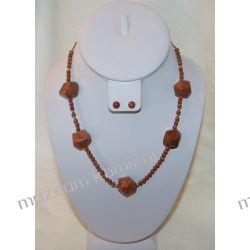 Naszyjnik z piasku pustyni w srebrze N015 Biżuteria i Zegarki