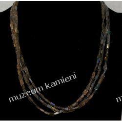 Piękny naszyjnik z labradorytu w srebrze N14 Biżuteria i Zegarki