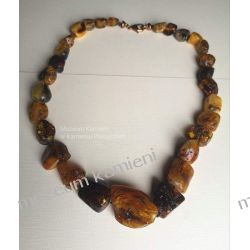 Piękne bursztyny - wyjątkowy naszyjnik NB003 Biżuteria i Zegarki