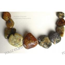Piękne bursztyny - wyjątkowy naszyjnik NB001 Biżuteria i Zegarki