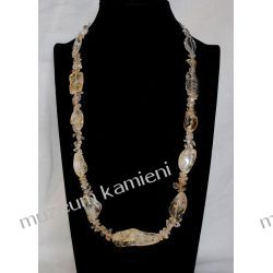 Naszyjnik z cytrynu w srebrze N033 Biżuteria i Zegarki