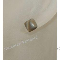 Kolczyki kwadraciki z krzemienia pasiastego w srebrze KWK016 Wisiorki