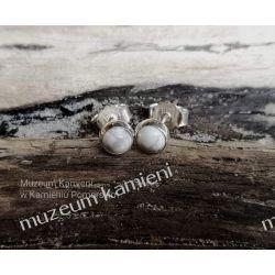 Kolczyki z howlitu w srebrze KWK041 Biżuteria i Zegarki