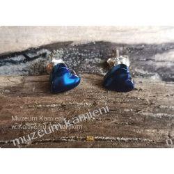Tęczowe serduszka z hematytu - kolczyki w srebrze KWK071 Biżuteria i Zegarki