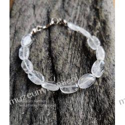 Piękna bransoletka w srebrze z kryształu górskiego B89 - 18,7 cm Biżuteria dla Pań