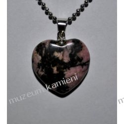 Wisiorki z rodonitu w kształcie serca W005 Biżuteria i Zegarki