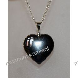 Hematyty - urocze wisiory w kształcie serca W013 Biżuteria i Zegarki