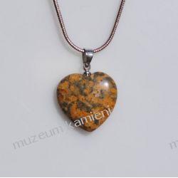 Jaspis wisior w kształcie serca W007