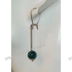 Wyjątkowe kolczyki z chryzokoli w srebrze KW017 Biżuteria i Zegarki