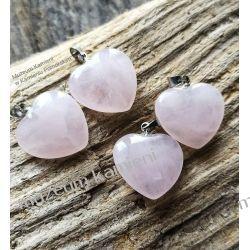Serduszko z kwarcu różowego  Biżuteria i Zegarki