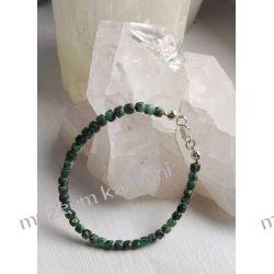 Piękna bransoletka ze szmaragdów w srebrze B42 - 20 cm Biżuteria dla Pań