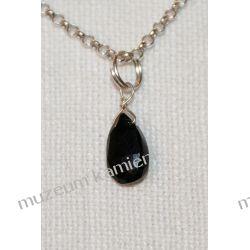 Piękny, drobny wisior z onyksu w srebrze WA108 Biżuteria dla Pań