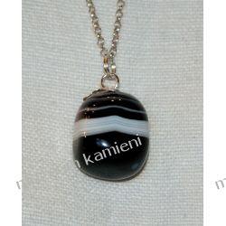 Piękny wisior z onyksu w srebrze WA139 Biżuteria dla Pań