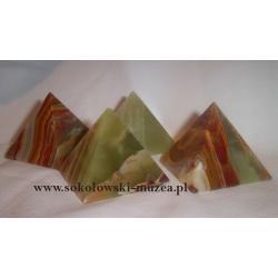Piramida z onyksu kalcytowego brązowa
