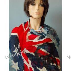 BRUNO ROSSI__ chusta  szal z FLAGĄ  USA  , czaszka