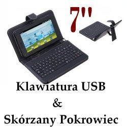 """DO TABLET 7"""" Pokrowiec + Klawiatura + Rysik"""
