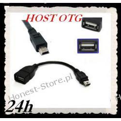Adapter OTG mini USB 5PIN męski na USB żeński gwar