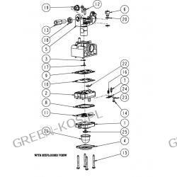 Gaźnik Honda GX-25 /dmuchawy wyb-17