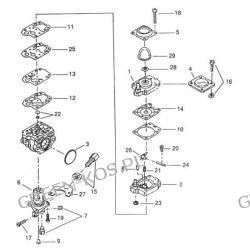 Gaźnik WALBRO WYJ-442 OleoMac HT27/HC260XP/HC275XP