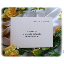 Zaproszenia ślubne w formie wezwania A5/ wezwanie w sprawie zaślubin