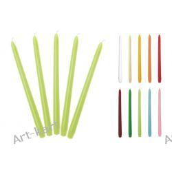 Świece stożkowe proste matowe 29cm x 10szt / r. kolory