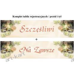 """Tablice rejestracyjne komplet TT58i59 """"Szczęśliwi/Na zawsze"""""""