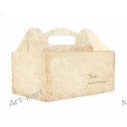 Pudełka na ciasto weselne z podziękowaniem / 10szt