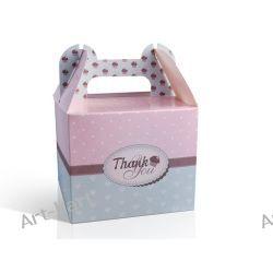 Pudełka na ciastka/ciasto z podziękowaniem - małe / 10szt PUDCSM2