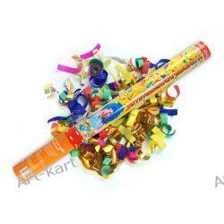 Tuba strzelająca kolorowym konfetti i metaliczną serpentyną / 40cm