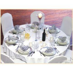 Obrus biały na okrągły stół / średnica 230cm