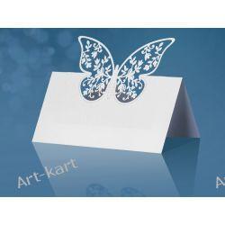 Wizytówki (winietki) na stół z motylkiem WS56/ 10szt