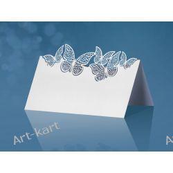 Wizytówki (winietki) na stół z motylkami WS55/ 10szt