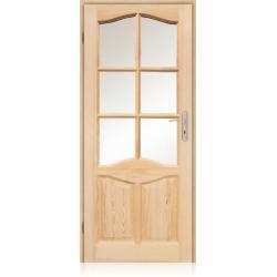 Drzwi sosnowe ŁEZKA D35 80p bezsęczne - WYPRZEDAŻ!