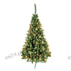 Sosna Diamentowa Rosa Złota 250 cm Ozdoby świąteczne