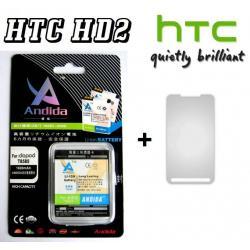 BATERIA ANDIDA HTC HD2,T8585 1600 mAh+FOLIA NA EKRAN GRATIS!