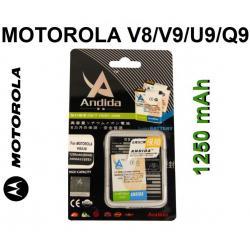 BATERIA ANDIDA MOTOROLA V8 V9 U9 Q9 BX40 1250mAh
