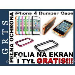 ETUI BUMPER IPHONE 4G 4S 25 KOLORÓW FOLIA NA EKRAN I TYŁ TELEFONU GRATIS!