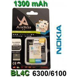 BATERIA ANDIDA Nokia BL-4C 6300 6100 6101 X2