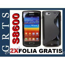 Etui Pokrowiec  Futerał Samsung Wave 3 S8600 S-Line+2XFOLIA NA EKRAN GRATIS!